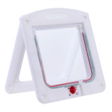 Lockable Cat Flap Door Kitten Dog Pet Lock Suitable for Any Wall White - thumbnail 2