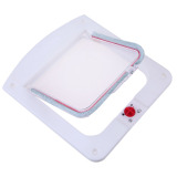 Lockable Cat Flap Door Kitten Dog Pet Lock Suitable for Any Wall White - thumbnail 5