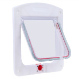 Lockable Cat Flap Door Kitten Dog Pet Lock Suitable for Any Wall White - thumbnail 3