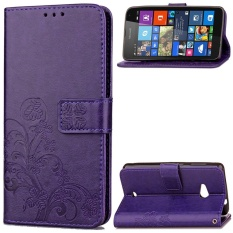 Lucky Clover PU Leather Flip Magnet Wallet Stand Card Slots Case Cover for Microsoft / Nokia