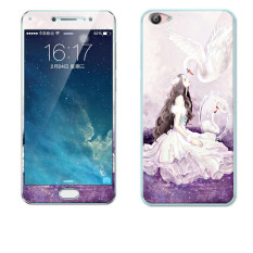Luxury 3D Painting Front+Back Full Case Cover Color Tempered Glass Case For Vivo X7