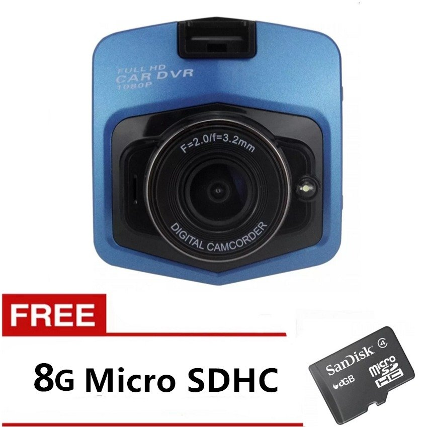 M001 Full High-Definition Car Blackbox Dvr (Blue) With Free 8Gb Memory Card
