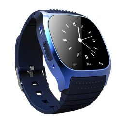 M26 Bluetooth Smart Watch w/ LED Altimeter Music Player Pedometer for IOS Android Smart Phone, Blue  - Intl
