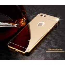 Metal Bumper For Iphone 6/6S (Gold) With Front And Back Glass Screen (Gold) with Free Samsung AKG In-Ear Earphones EO-IG955 For Samsung S8 / S8+ / Smartphone (black)