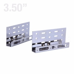 "Metal Side Bracket for 4x 2.5"" HDD / SDD to 3.5"" PC Bay (Silver)"