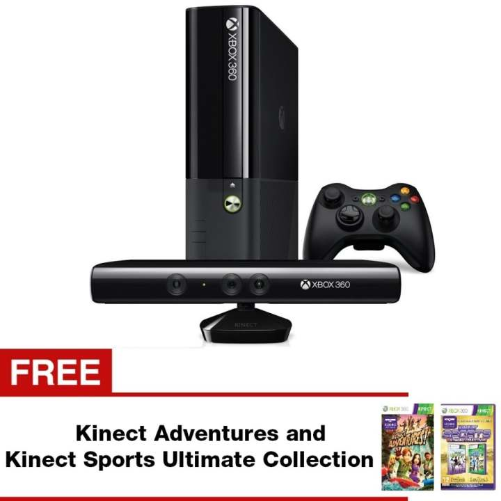 Microsoft Xbox 360E 4GB and Kinect Sensor Camera Set with Free Kinect Adventures and Kinect Sports Ultimate Collection
