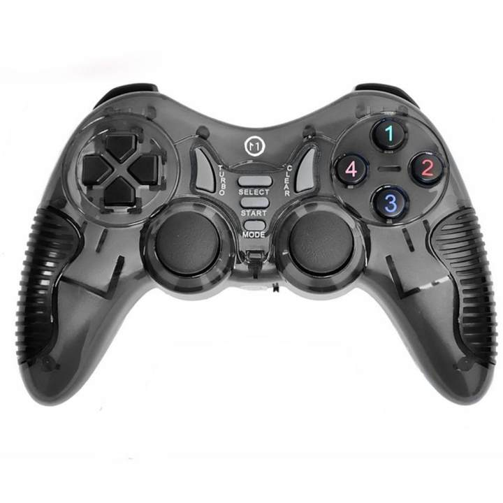 Miimall 2 4GHz Wireless Game Controller for Computer, Dual Shock Joypad PC  Gamepad Devices Laptop Game Hardware Digital/ Analog Joystick for PS1/ 2/ 3