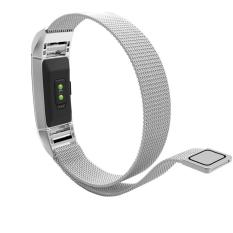 Milanese Magnetic Loop Stainless Steel Watchband For Fitbit Charge2  Replacement Wrist Strap