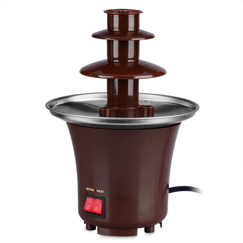 Keimav Mini Chocolate Fondue Fountain (Brown)