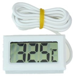 Mini Digital LCD High Temperature Thermometer With Probe Celsius (White)