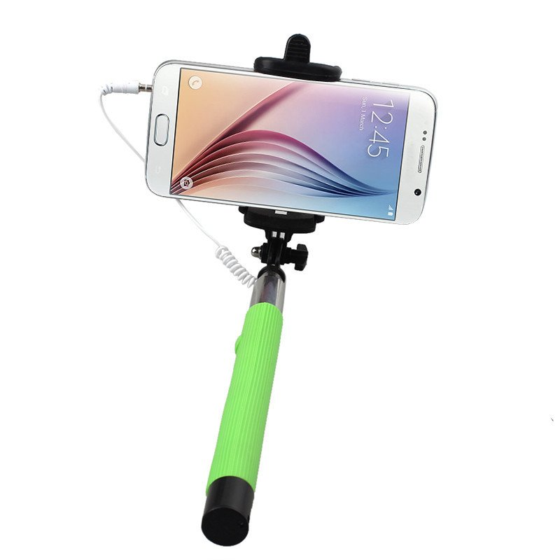 Mini Extendable Fold Handheld Self-portrait Holder Stick - thumbnail