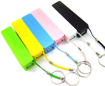 Mini Portable 2600mAh Powerbank Set of 6 (Multicolor)