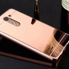 Mirror Case For LG G3 Stylus Plating Metal Frame +Acrylic Protector Back Cover For LG