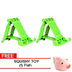 MMC- 2Pcs. LS-12 Green with free Fish Squishy