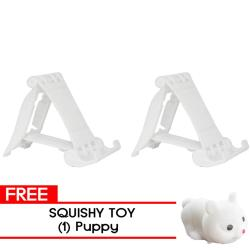 MMC- 2Pcs. LS-12  White  with free Puppy Squishy