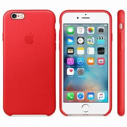 Mobilehub Leather Slim Case For iPhone 6 Plus / 6s Plus (Red)