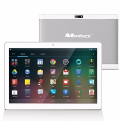 Modoex Knacx 10.1 HD Screen, 1280*800 IPS Android 5.1 Lollipop 16GB ROM Quad Core Tablet (Silver)