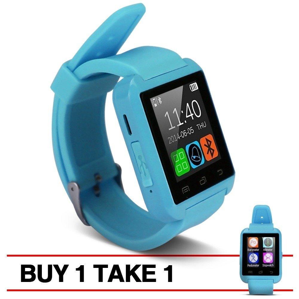 Modoex M8 Bluetooth Smart Watch (Blue) Buy 1 Take 1 - thumbnail