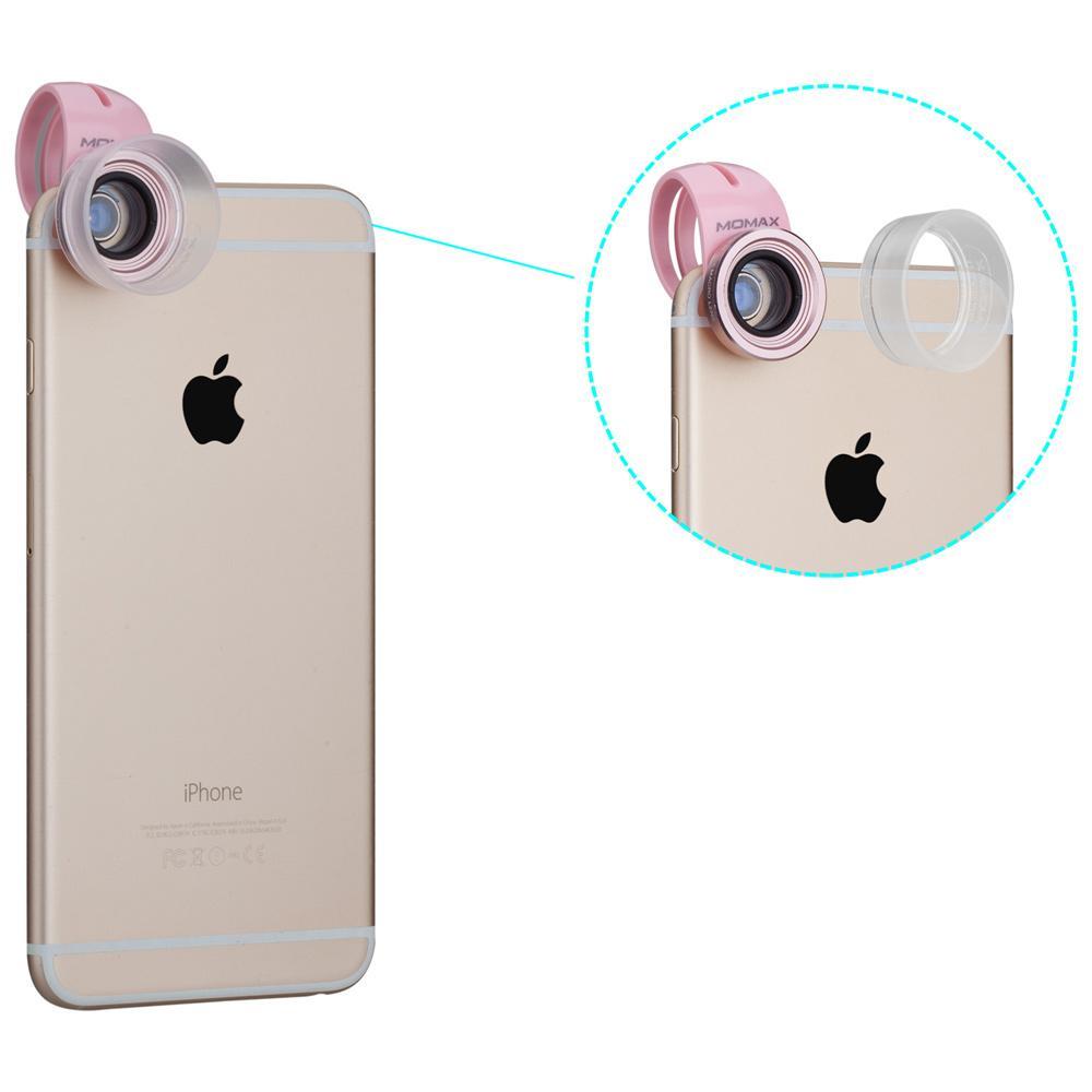 MOMAX X-Lens 3 in 1 Universal Macro Lens Set 10X Macro + 15X Macro + 30X Macro Lens for Smart Phones - Rose Gold - intl