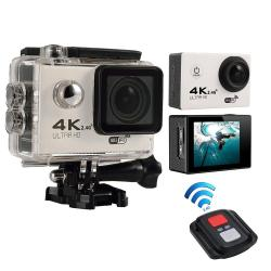 moob 4K HD Wifi Action Camera 2.0 Inch 170 Degree Wide Angle Lens Action Camera WIFI 4k Waterproof Sports Action Camera, White