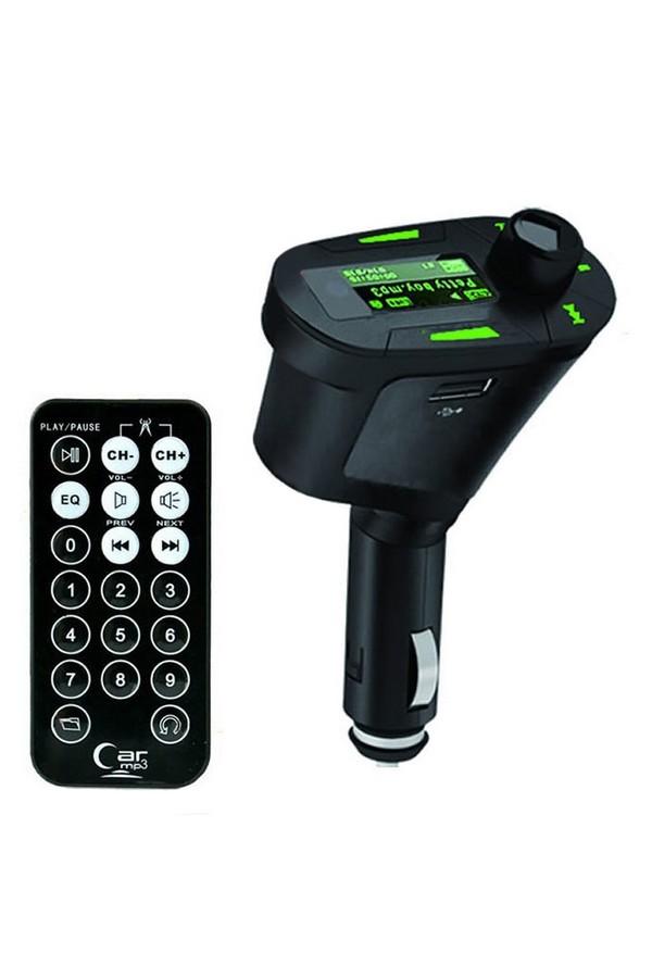 Moonar FM Transmitter Modulator MP3 Player Green