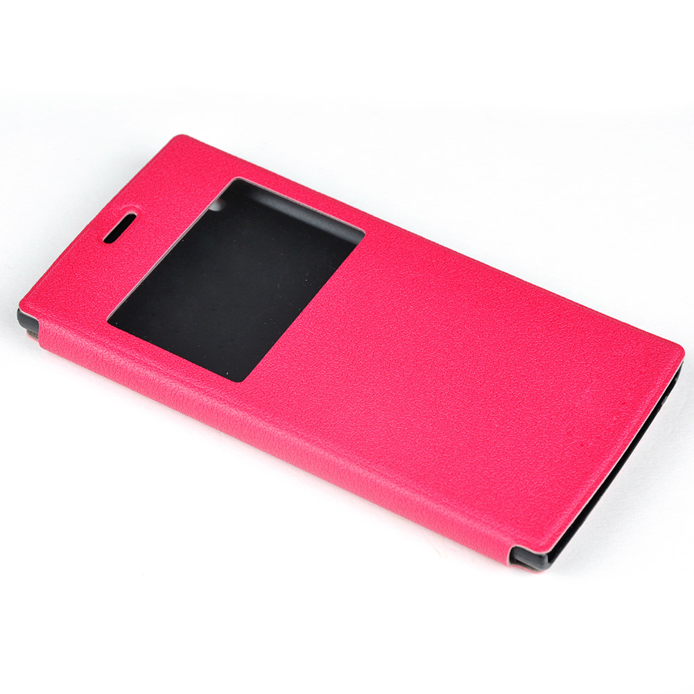 Moonar PU Flip Leather Protective Cover for UMI Zero (Pink)