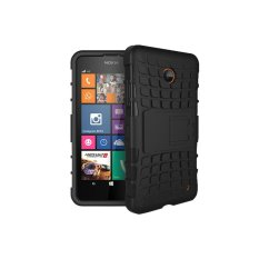 Mooncase Case For Nokia Lumia 630 Detachable 2 in 1 Shockproof Tough Rugged Prevent Slipping Dual
