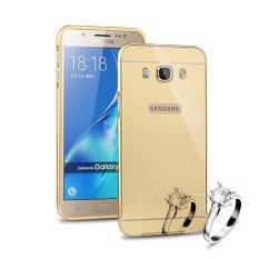 Mooncase Case For Samsung Galaxy J5 2016 Luxury Metal Aluminum Bumper Detachable + Mirror Hard Back
