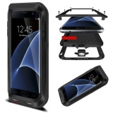 Mooncase Case For Samsung Galaxy S7 Edge Waterproof,Shockproof Snowproof Dustproof Durable Aluminum Metal Gorilla Heavy Duty Full-body Protection Case Black ...