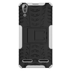 Moonmini Hybrid Combo Body Armor High Impact Shockproof Case Cover Defender with Kickstand for Lenovo A6000