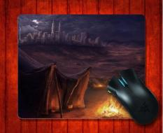 MousePad Tents Near The Modern City Fantasy for Mouse mat 240*200*3mm Gaming