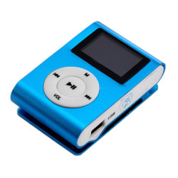 MP3 Player LCD Screen Support 32GB Micro SD Card (Blue)