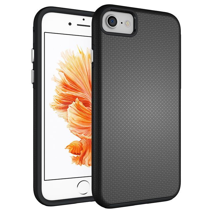 Mypro Armor Defender Premium Texture Dual-Layer Slim Protective TPU Bumper Case for iPhone 7 (Black) product preview, discount at cheapest price