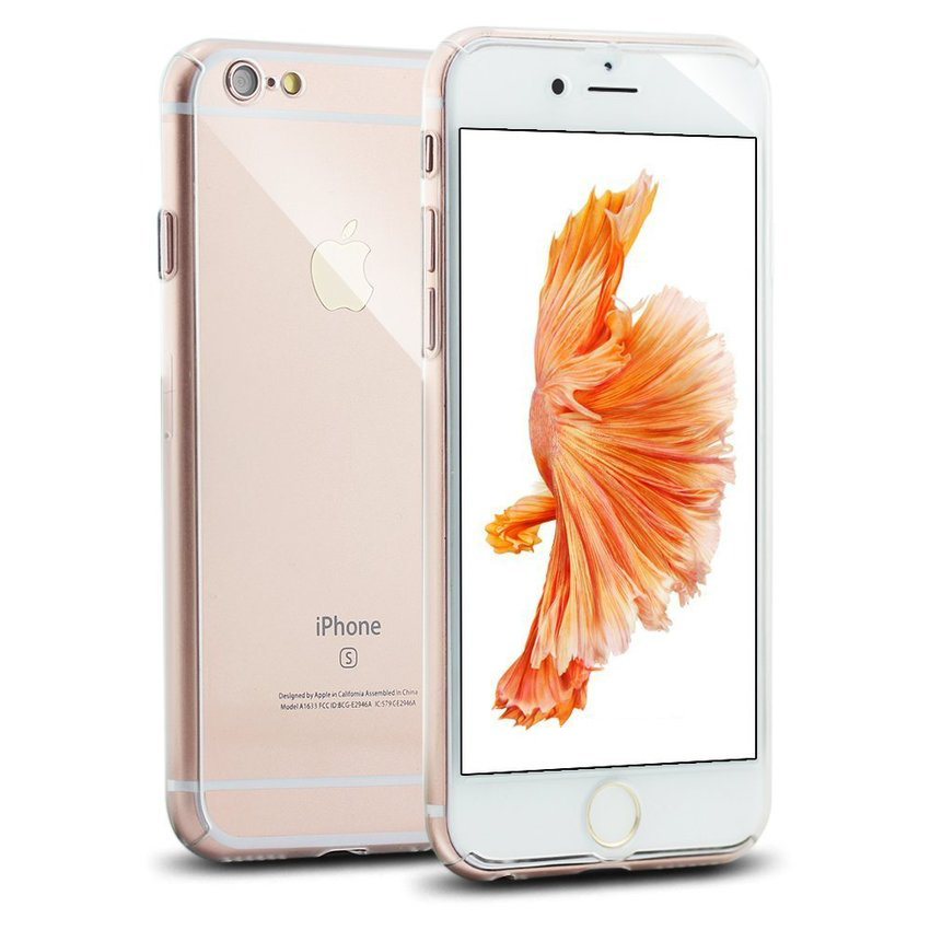 New Front + Back Hard Case Cover Full Body with Tempered Glass for iPhone 6/