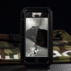 New Metal Waterproof Shockproof Military Heavy Duty Tempered Glass Cover Case for iPhone 5 5S SE - intl