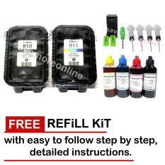 New Original Canon Ink Cartridge Pg-810 & Cl-811 Sealed W/ Free Kit By Save More Ink Refill Station..