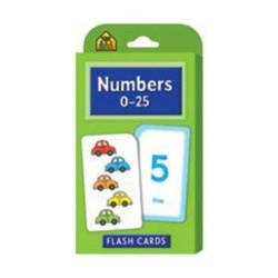 New School Zone Publishing Numbers 0-25 Flash Cards Ages 4-6 LearnNumbers Addition Subtraction - intl