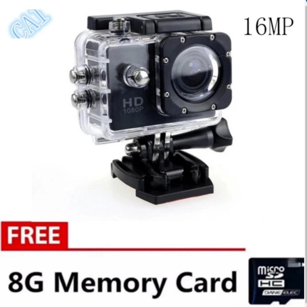 New Xiaocai 16Mp 4K Hd Dv Sports Camera (Black) With Free 8Gb Memory Card (Not Wifi)
