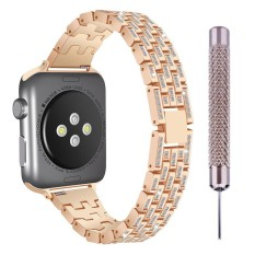 niceEshop Stainless Steel Band Strap For Apple Watch 38mm/42mm, Bling Crystal Diamond Loop