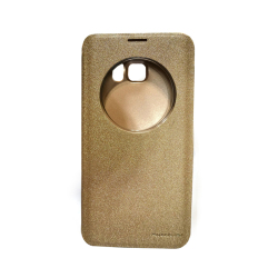 Nillkin Sparkle Leather Case for Samsung S6 Edge Plus (Gold)