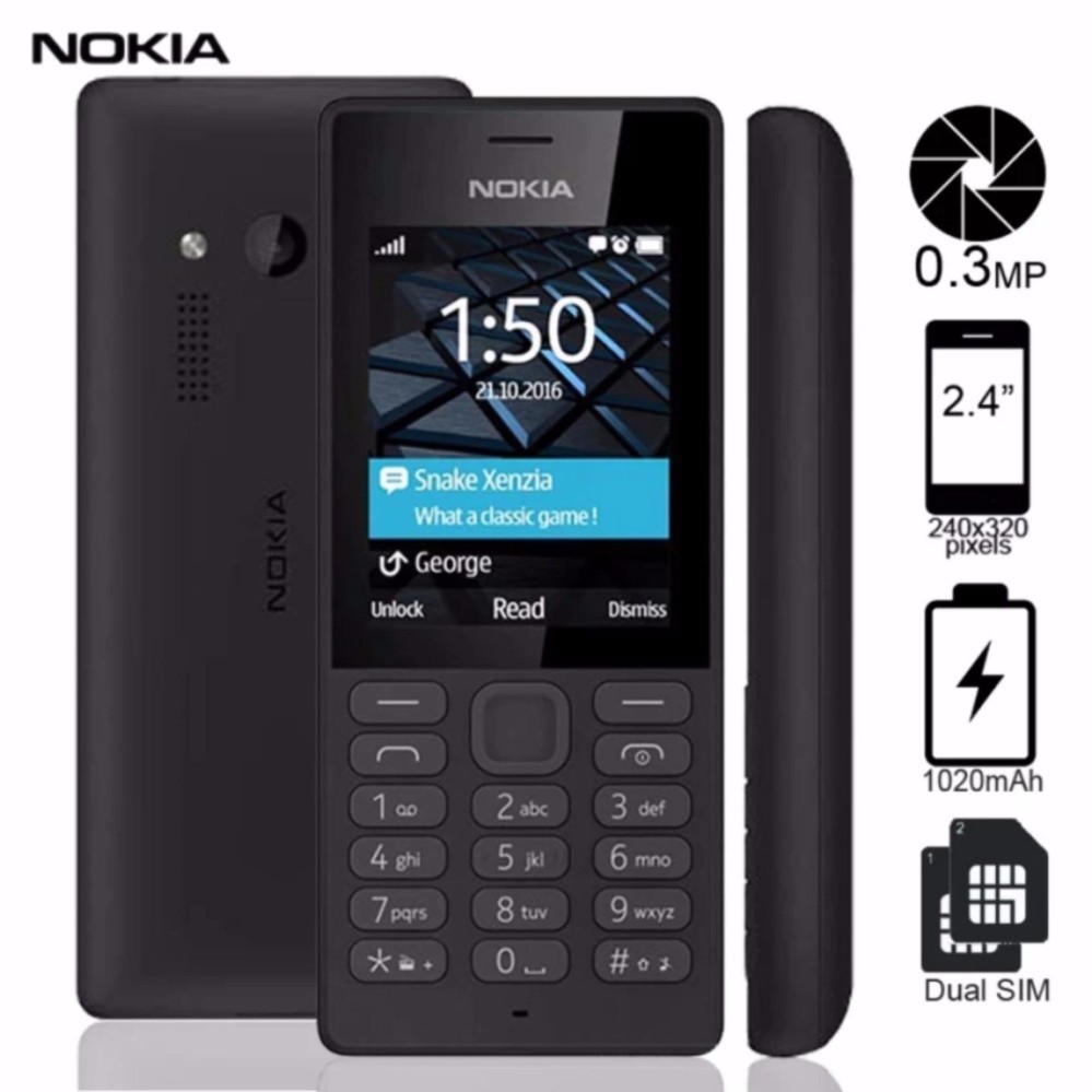 "Nokia 150 Dual SIM 2.4"" Display (Black)"
