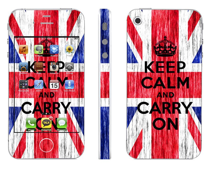 Odd Stickers Skin Cover Keep Calm Pattern 1 for iPhone4/4s