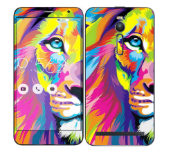Oddstickers Phone Skin Neon Lion for Asus Zenfone 2 (Multicolor)