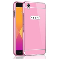 OEM Aluminum Metal Case For OPPO A30 with HD Screen Protector -Pink - intl