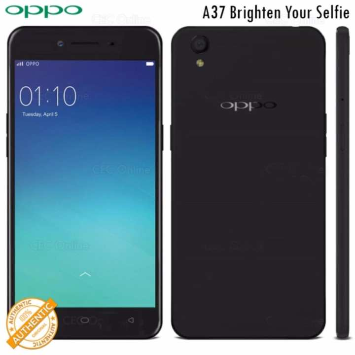 OPPO A37 (Free Tempered Glass+Case) 16GB 4G LTE Dual-SIM (Black)