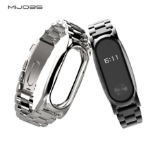 Original Mijobs Metal Strap For Xiaomi Mi Band 2 Straps Screwless Stainless Steel Bracelet Replace Accessories For Mi Band 2 By Great S Enterprises.