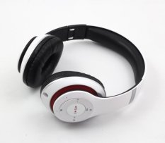 P15 Bluetooth Headset Over Ear Headphone With Built in Microphone (White) - intl