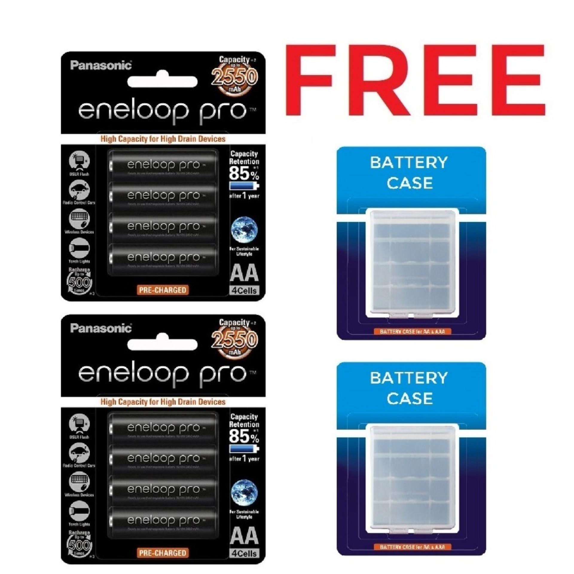 Eneloop Philippines Price List Rechargeable Battery For Sanyo Aa 2pcs Panasonic Pro Bk 3hcce 4bt Pack Of 4 Black X2