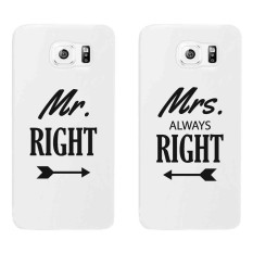 PETREL Couple Phone Case for Samsung Galaxy S6 No. 3 Set of 2 (White