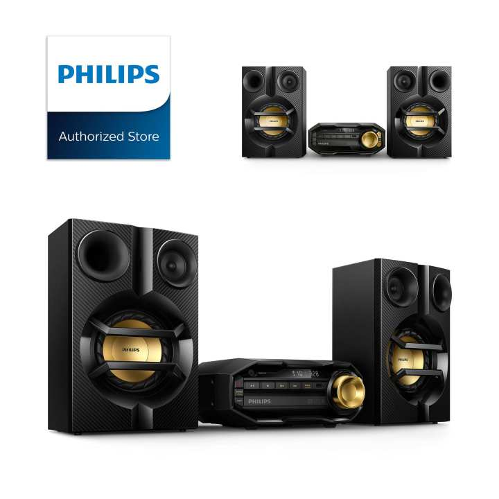 Philips Mini Hi-Fi System FX10 with Bluetooth (Black/Gold)